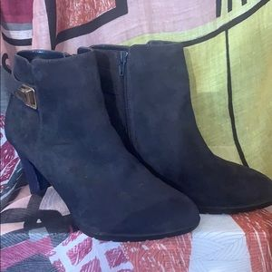 Navy Blue ANNE KLEIN BOOTIES